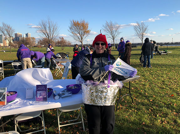 Team Northeast Regional Epilepsy Group captain: Mary Holtz marched for epilepsy
