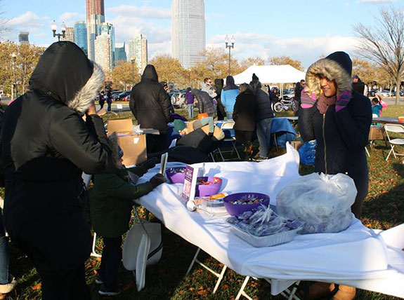 Northeast Regional Epilepsy Group  booth withstood the cold