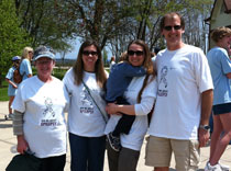 Epilepsy Walk Team: Pat, Sarah Henry, Dr. Olga Laban, Aidan and Duane