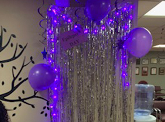 Hackensack Epilepsy Program decked out for International Epilepsy Day