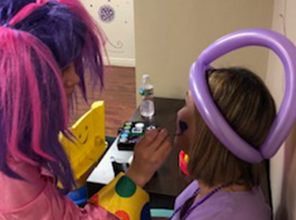 Raising epilepsy awareness through face painting