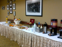 Breakfast spread at our epilepsy conference