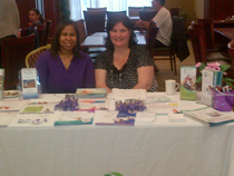 Sonia and Kim at our epilepsy information booth
