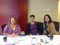 liza Gundell, Wanda and Lucy at the epilepsy information booth