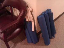 Yoga mats for those who attended