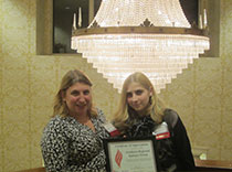 Shelby and proud mom, Bridget receive top epilepsy fundraiser award!